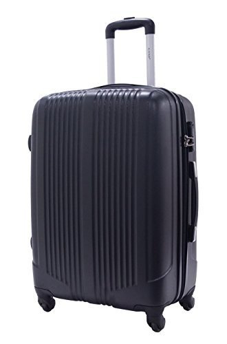 Valise Taille Moyenne 65cm - ALISTAIR Airo - ABS ultra Léger - 4 roues - Noir