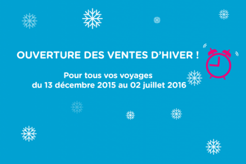 TGV Ouigo Ouverture des Ventes D'hiver