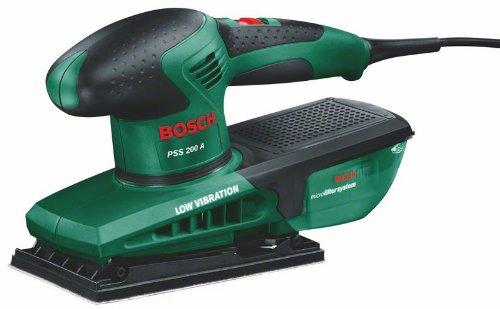 """Bosch Ponceuse vibrante """"Easy"""" PSS 200 A avec microfiltres, coffret et feuille abrasive 0603340000"""