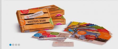 Échantillon gratuit Une boite contenant un Stylo et des cartes de drukwerkdeal !