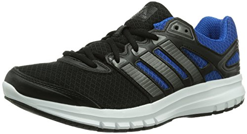 adidas Duramo 6, Chaussures de running homme - Noir (Black 1/Carbon Met. S14/Blue Beauty F10), 42 2/3 EU
