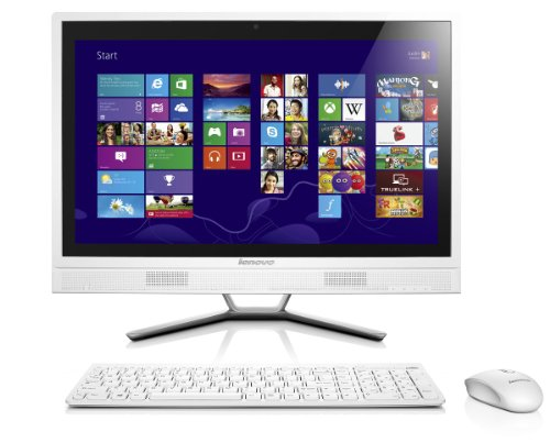"Lenovo C365 Ordinateur de bureau Tout-en-un 20"" Blanc (AMD E1, Disque dur 1 To, 4 Go de RAM, Windows 8.1)"