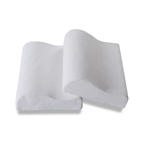 deko dream lot de 2 oreillers latex ergonomiques prix. Black Bedroom Furniture Sets. Home Design Ideas