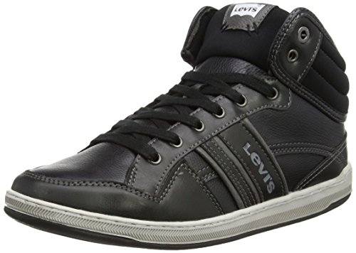 Levi's Pinole Mid, Sneakers Hautes homme, Noir (159 Regular Black), 44 EU (10 UK)