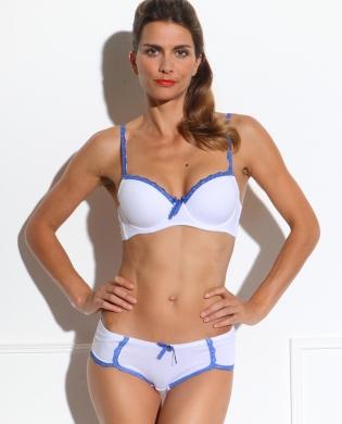 Ensemble lingerie coton blanc