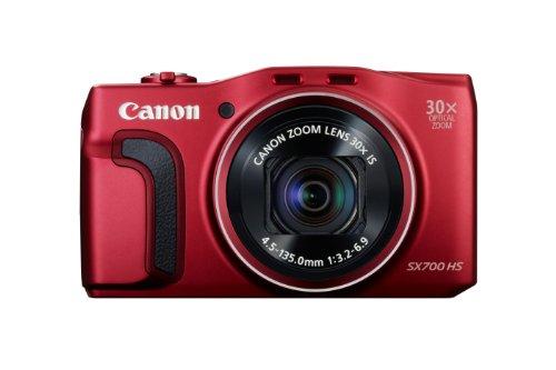 Canon Powershot SX700HS Appareil photo numérique compact 16,1 Mpix Ecran 3'' Zoom optique 30x Rouge