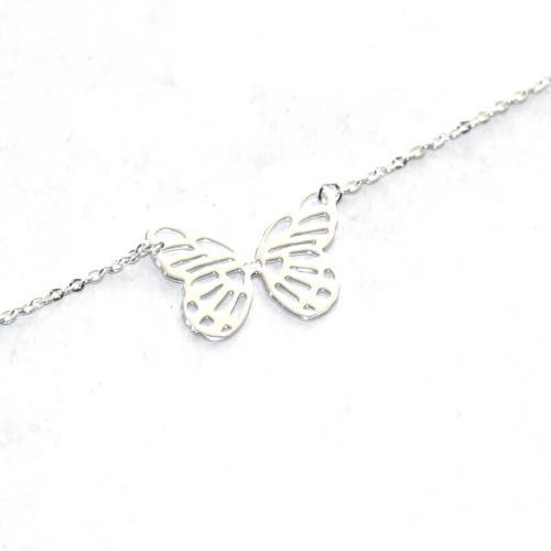 Bracelet motif papillon argent 925