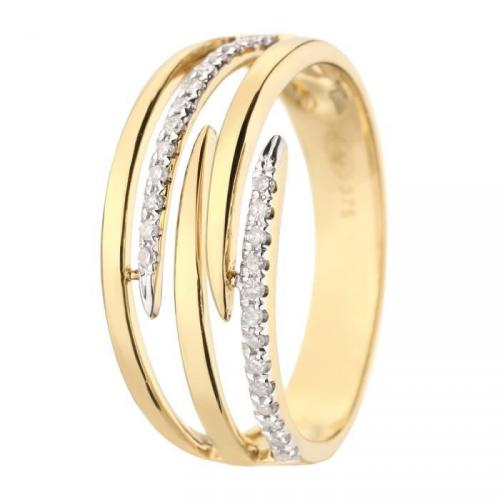Bague Or 375° et Diamants Femme