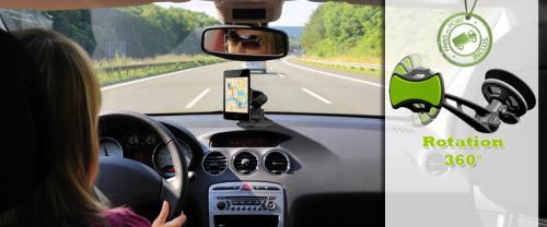 support téléphone portable universel pour voiture Hold Go à rotation 360 °