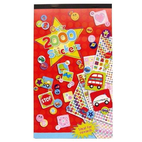 Grand livre d'autocollants pour les enfants - Plus de 2000 Stickers - Beaucoup de dessins, formes et messages - Taille 244mm x 147mm