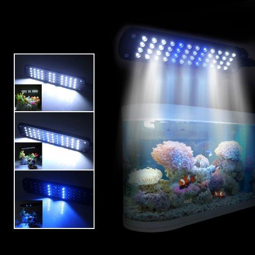 Excelvan Noir Aquarium LED Lampe à clip avec 48 ampoules LED Lumière économie d'énergie EU