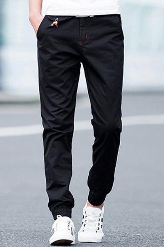 Perles Pieds faisceau Agrémentée Pantalons Zipper Fly Hommes