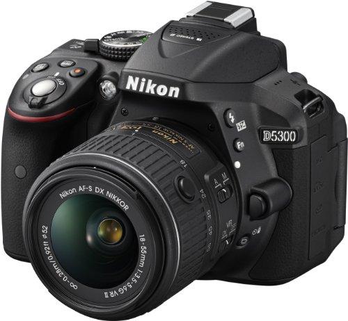 Nikon D5300 Appareil photo numérique Reflex 24.2 Kit Objectif AF-S DX VR II 18-55 mm Noir