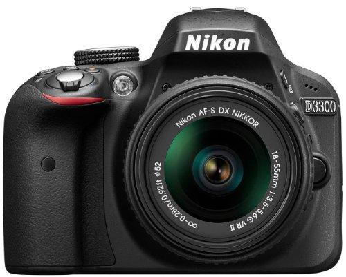 Nikon D3300 Appareil photo numérique Reflex 24.2 Kit Objectif AF-S DX VRII 18-55 mm Noir