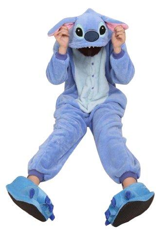 Ferrand - Kigurumi (Pyjama Onesie ou Costume Animal Cosplay) - Adulte Unisexe - Stitch Bleu M