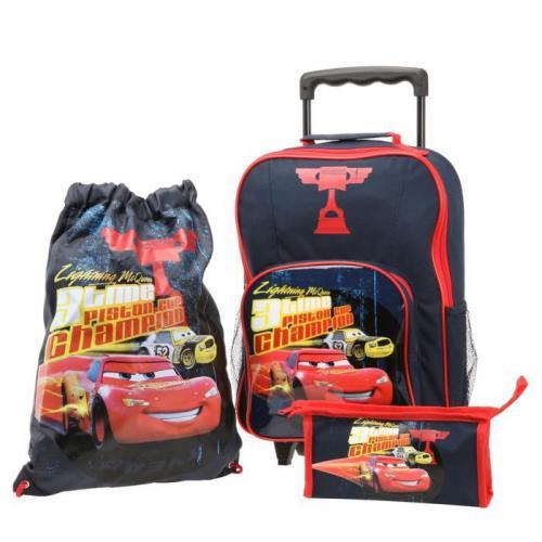 CARS sac à dos roulettes Set 3 pièces Garçon