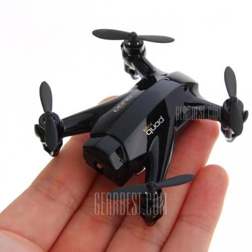 XINLIN X165 4 CH Mini 2.4G Quadcopter with Gyro Hover 360 Degree Rollover  -  BLACK