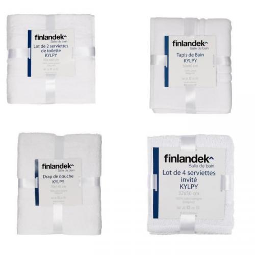 FINLANDEK Pack 8 pièces BLANC