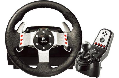 Logitech G27 Ensemble Volant   pédales   levier de vitesse pour PC,PS2 et PS3 Cuir Noir / acier