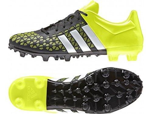 adidas Performance  Ace 15.3 FG/AG, Chaussures de foot pour homme Noir Schwarz (Core Black/Ftwr White/Solar Yellow) Taille 40