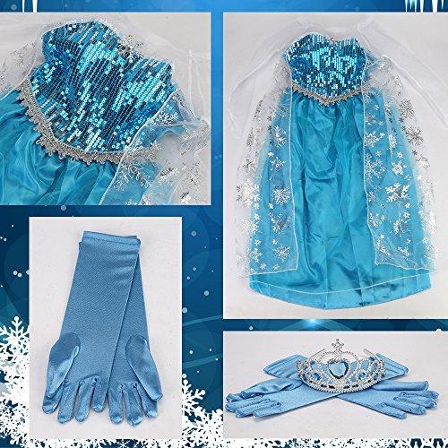 Déguisement Enfant Costume Robe Elsa La Reine des Neiges - Y01001-02-L