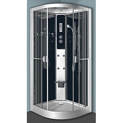 Cabine de douche hydromassante VENISE - 1/4 de cercle - 90x90 cm