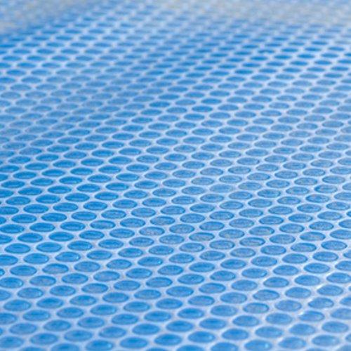 Bâche solaire à bulles pour piscine - 8 x 5 m - 400 microns - découpable - jusqu'à 8° C supplémentaire