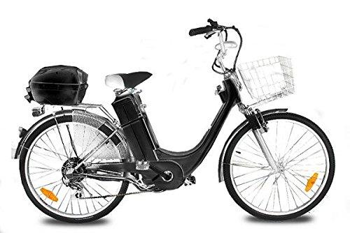 Vélo Electriqué 250W 36V E-GO! E-Bike City-1 26 Pouces - Noir