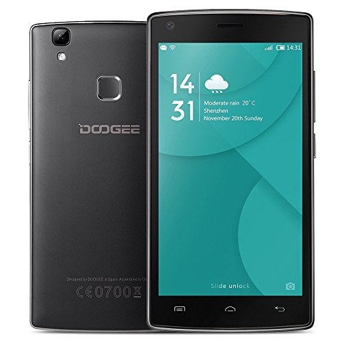 "DOOGEE X5 MAX 3G Smartphone MTK6580 Quad Core Android 6,0 1G + 8G 5.0"" IPS HD 1280 * 720 Pixels d'écran 8MP + 8MP Double Caméras Empreintes Digitalesle Geste Intelligent"