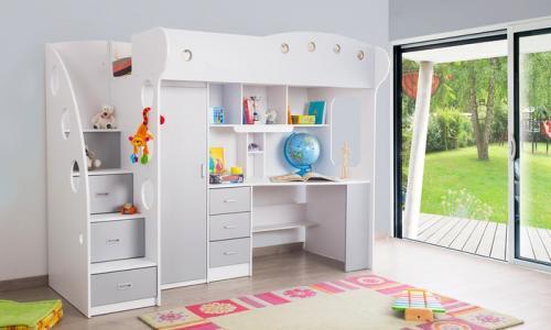 Lit mezzanine combin junior 90 x 200 cm prix 599 90 - Combine lit bureau junior ...