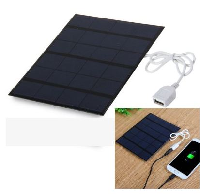 Nape de chargement solaire 3.5W 6V Solar Panel Power Bank Charger  -  PURPLISH BLUE