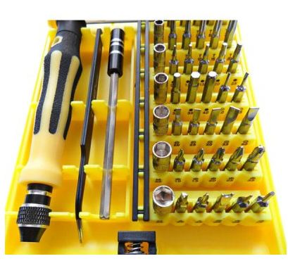 Kit tournevis  JACKLY 6089 A - type 45 - in - 1 Repair Opening Tool Kit Portable Precision Screwdrivers Disassembly Set  -  COLORMIX