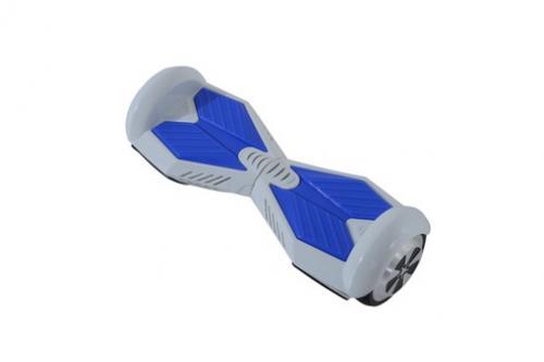 HOMCOM Overboard gyropode skate électrique auto-équilibrage blanc bleu