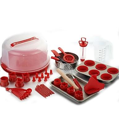 """un ensemble complet d'outils pour le four boulange gâteau moule plein forfait novice outils essentiels silicone 14,1 """"13,4 *"""" * 6,54 """""""