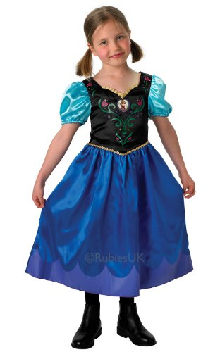 Rubie's 889543M La Reine des Neige Anna Robe deguisement Costume 5-6 ans