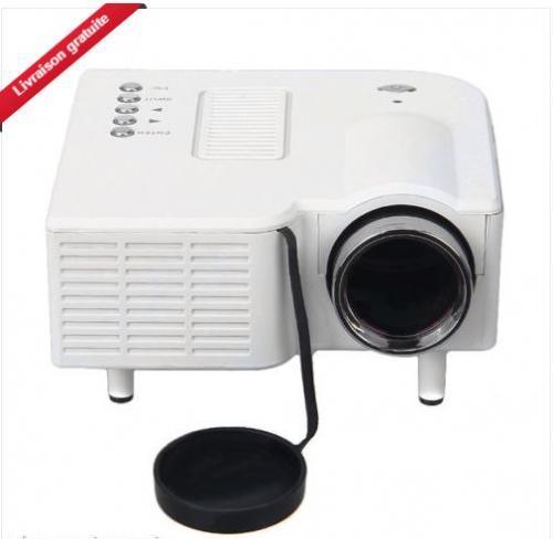 Excelvan Mini LED Projecteur Multimédia Cinéma Vidéoprojecteur VGA/USB/AV/HDMI