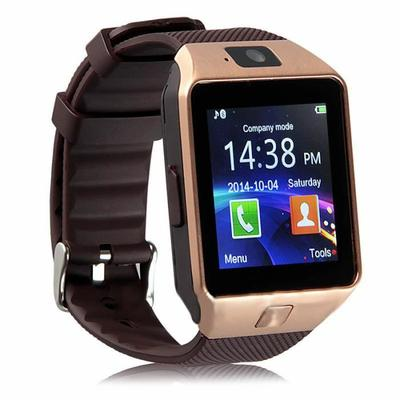 Luxe Mixte Homme Femme Bluetooth Intelligente Montre SIM GSM Carte Caméra Pour Android Phone - Or