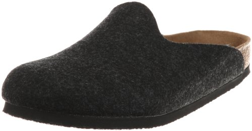 Birkenstock Amsterdam 559121, Chaussons mixte adulte - Anthracite, 43 EU