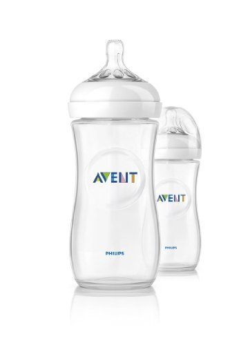 Philips Avent - SCF696/27 - Lot de 2 biberons 330ml avec tétines 3 trous natural