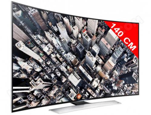 TV LED 4K incurvé 3D 140 cm SAMSUNG UE55HU8500