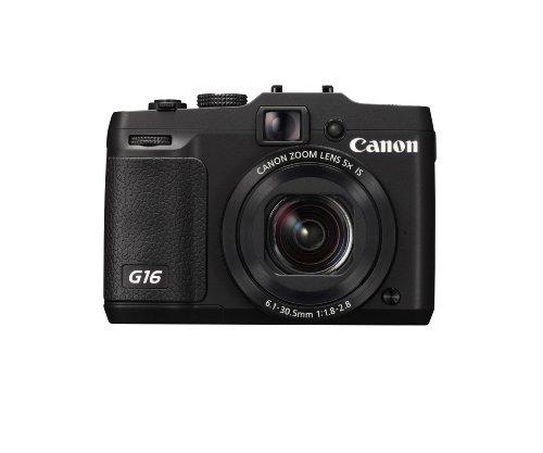 """Canon PowerShot G16 Appareil photo numérique compact Ecran 3"""" (7,62 cm) 12,1 Mpix Zoom optique 5x USB/HDMI Noir"""