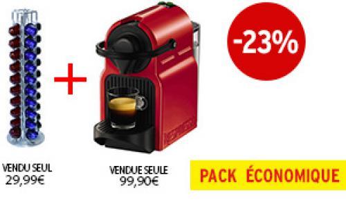 Expresso Krups INISSIA NESPRESSO RUBY RED YY1531FD   Porte-capsules Tavola Swiss CAPSTORE VISTA