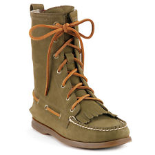 Sperry top sider Boots addison velours de cuir olive