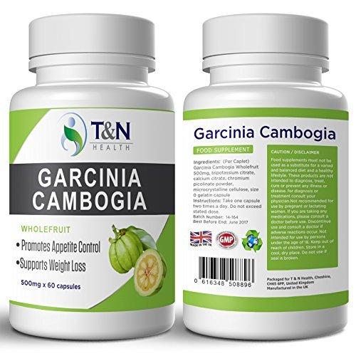 Garcinia Cambogia pure nouvelle formule Ultra concentrée 100% sûre & fruits entiers - Bruleur de graisse puissant avec Calcium et Potassium pour perte de poids - 60 capsules (pour hommes et femmes)