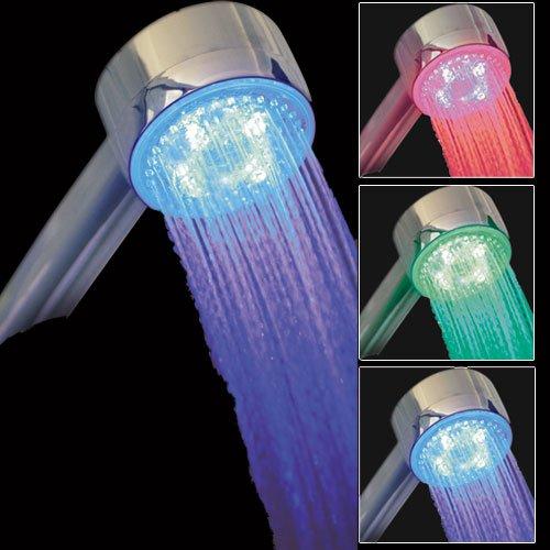 Pommeau de douche lumineux à LED 3 couleurs