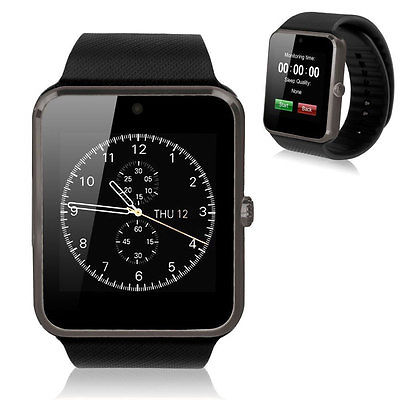 New Smart Watch GT08 Sync Notifier With Sim Card Bluetooth For IOS Android Black