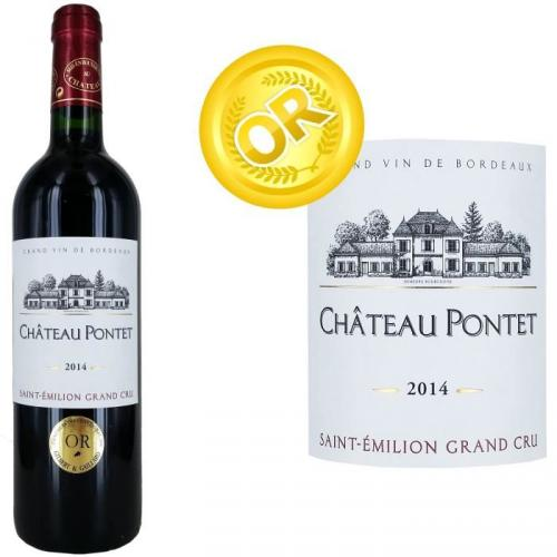 Château Pontet Grand Vin de Bordeaux Saint Emilion Grand Cru 2014 - Vin rouge