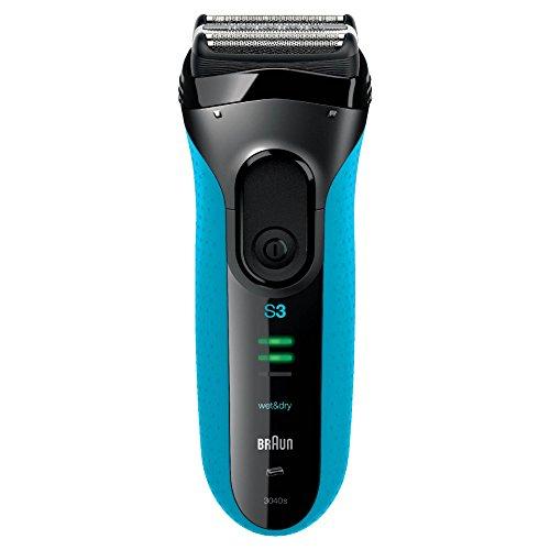 Braun Series 3 3040 Wet & Dry Rasoir Électrique à Grille Rechargeable pour Homme - Système de Rasage Triple Action SensoFoil