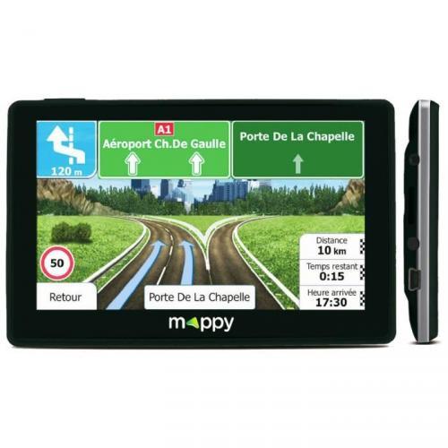 """MAPPY ITI E-437T GPS Voiture Slim Cartes à Vie 4,3"""" Noir"""