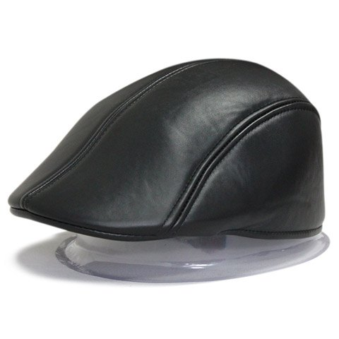 Stylish Solid Color Leather Material Visor For Men